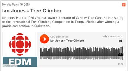 CBC Edmonton Radio Interview  sc 1 th 167 & Canopy Tree Care   Edmonton St. Albert Sherwood Park Tree Service